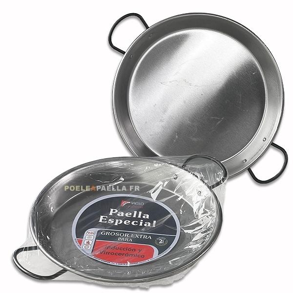 Po le paella acier poli pour induction et vitroc ramique - Poele paella induction ...